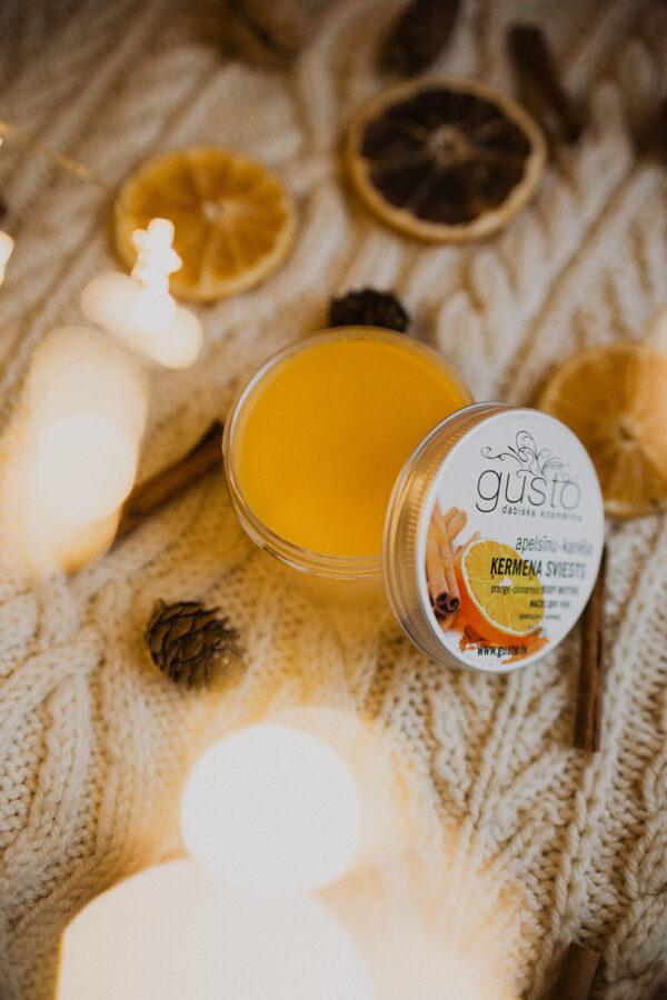 Apelsīnu-kanēļa ķermeņa sviests