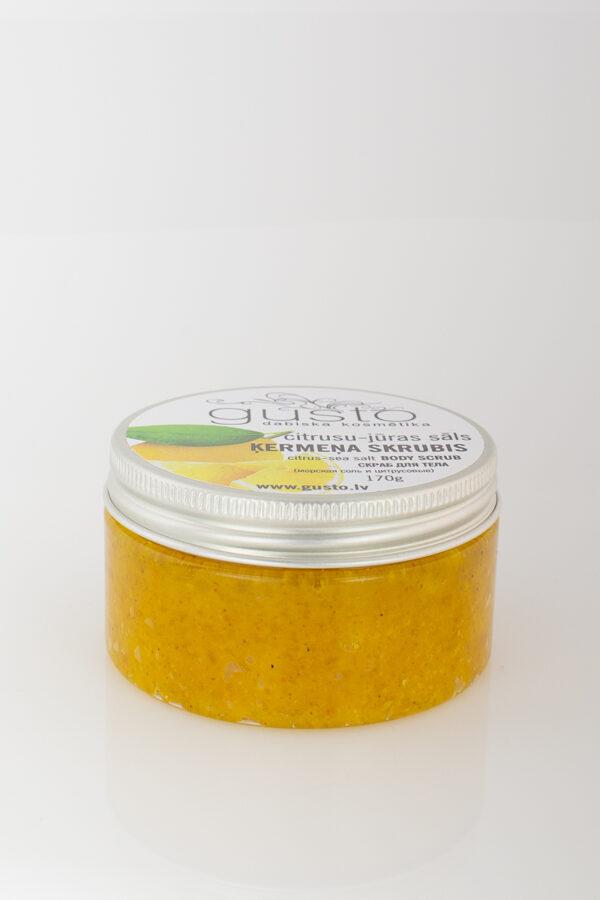 Citrus-sea salt body scrub