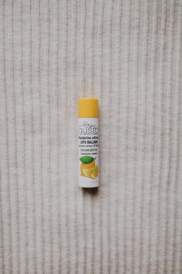 Mandarin-lemon lip balm
