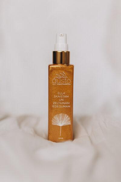 Body oil for a golden tan